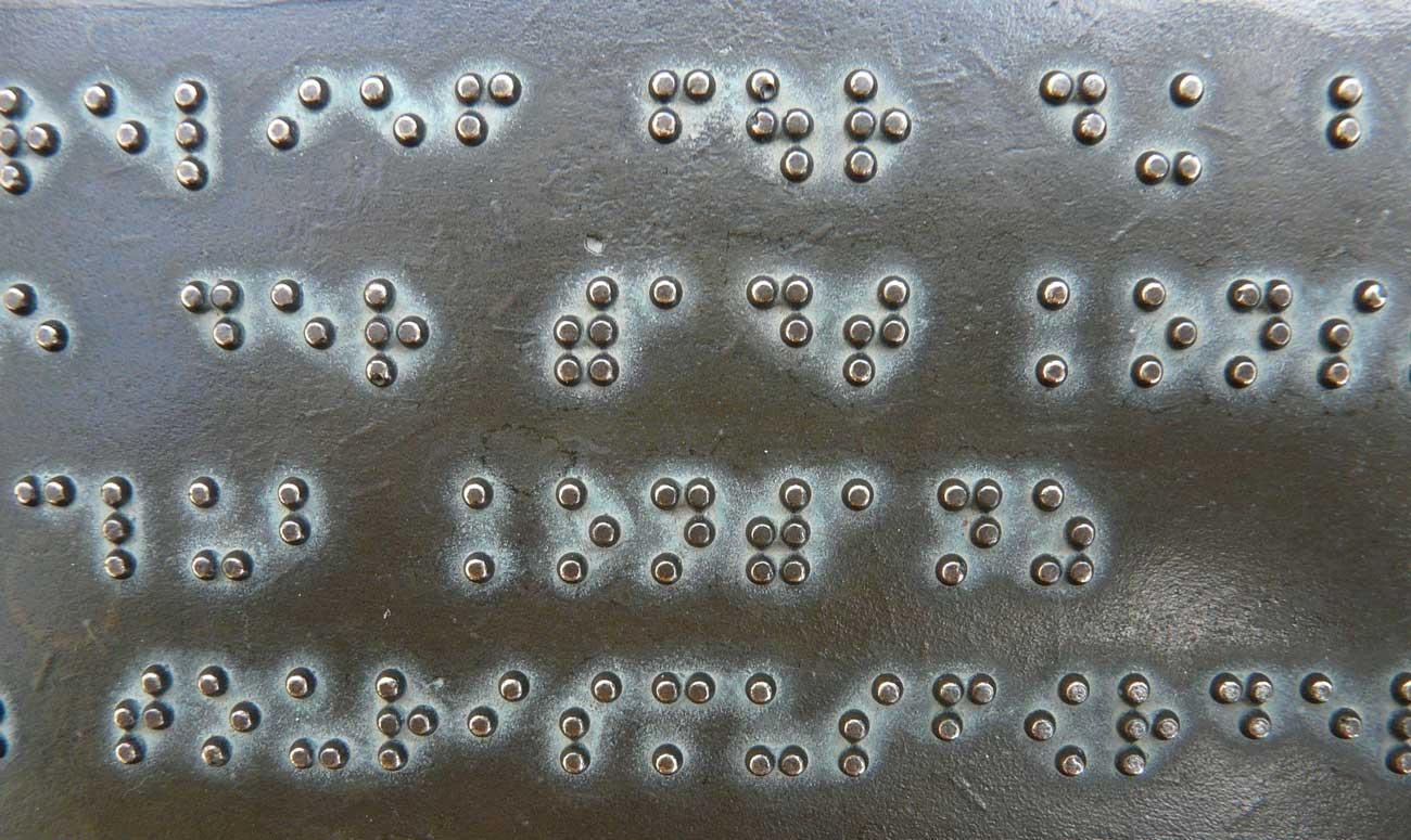 Behinderung Blindensprache