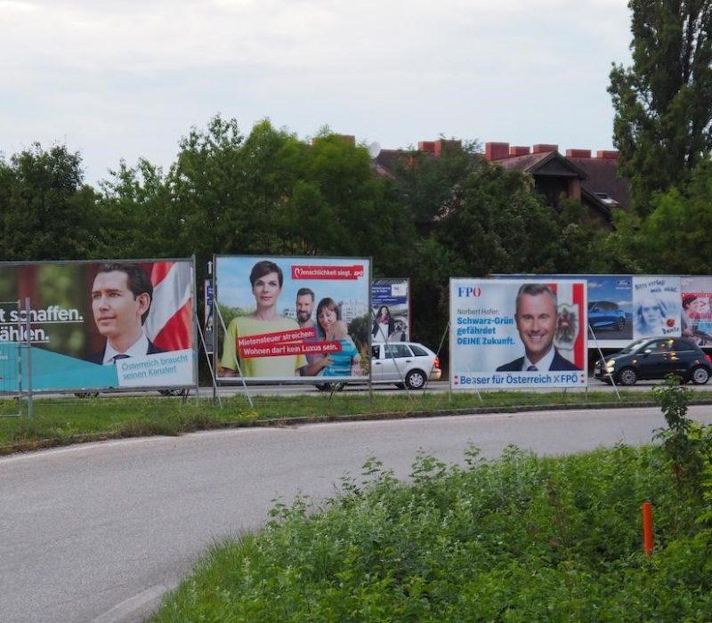 Plakate Nationalratswahl Hochschulpolitik