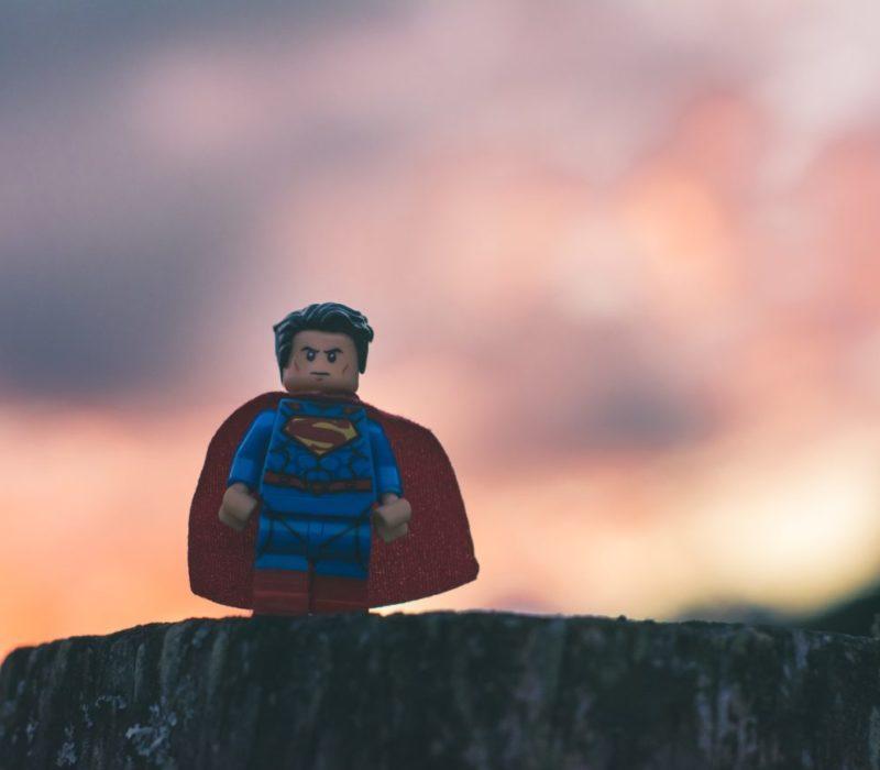 Superheld-Legofigur